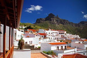 Tejeda town in the Gran Canaria highlands