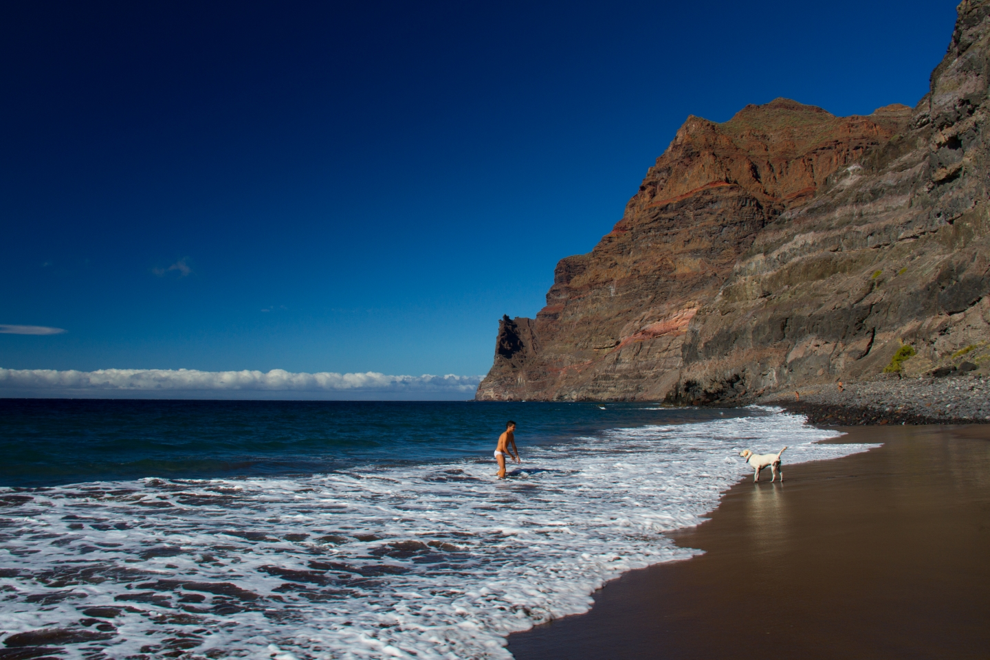 The Gran Canaria sea air is good for you