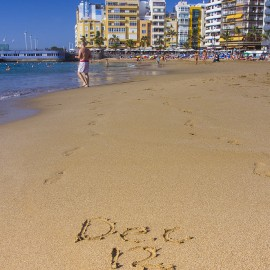 Las Canteras Beach On December 12, 2015