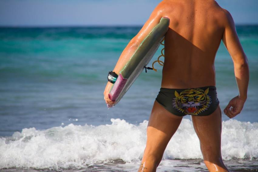 Local Gran canaria beachs have high budgie smuggler counts