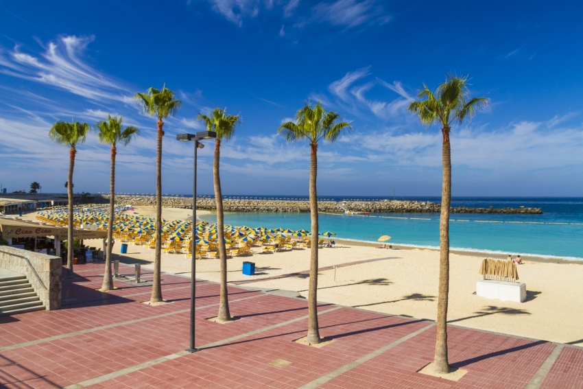 Amadores beach in south Gran Canaria