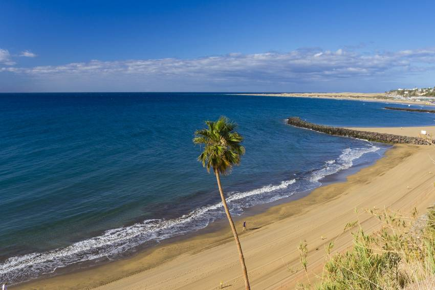 El Cochino beaches in south Gran Canaria