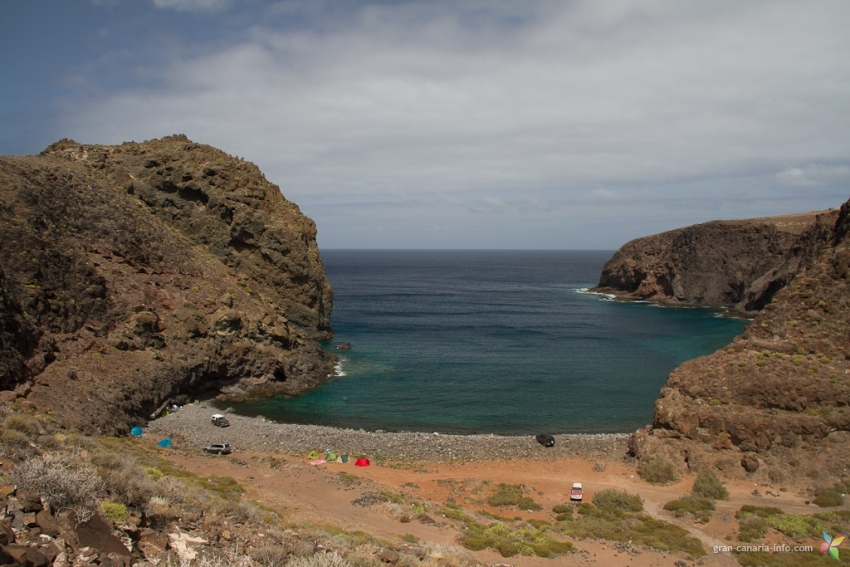 El Juncal beach in Agaete