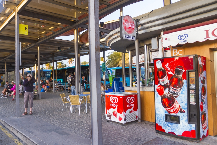 Maspalomas bus station just by the oasis