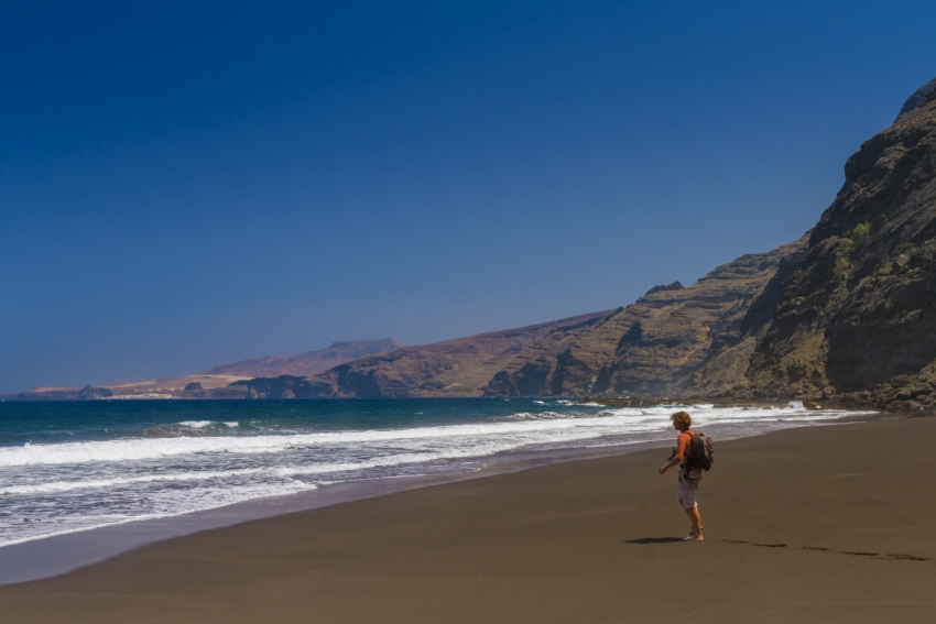 Faneroque on the west coast is Gran Canaria's least visited beach