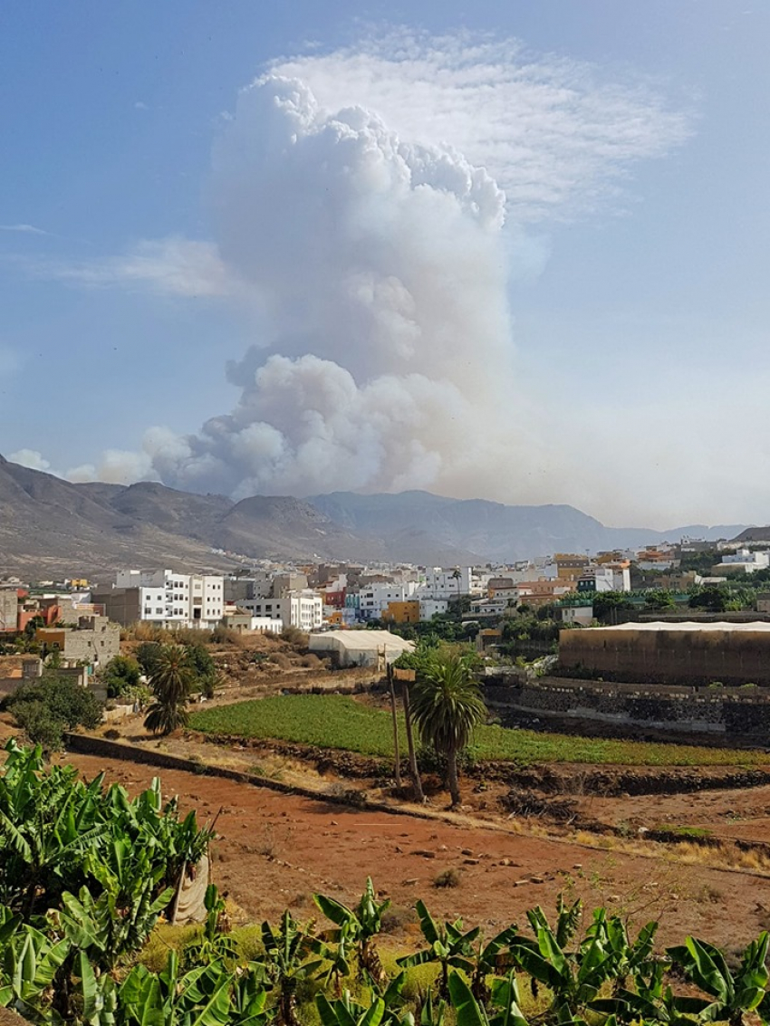 Uncontrollable Gran Canaria Fire Reaches Tamadaba Forest