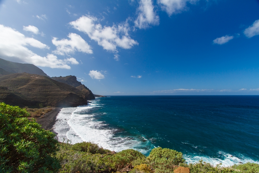 El Risco Beach in northwest Gran Canaria