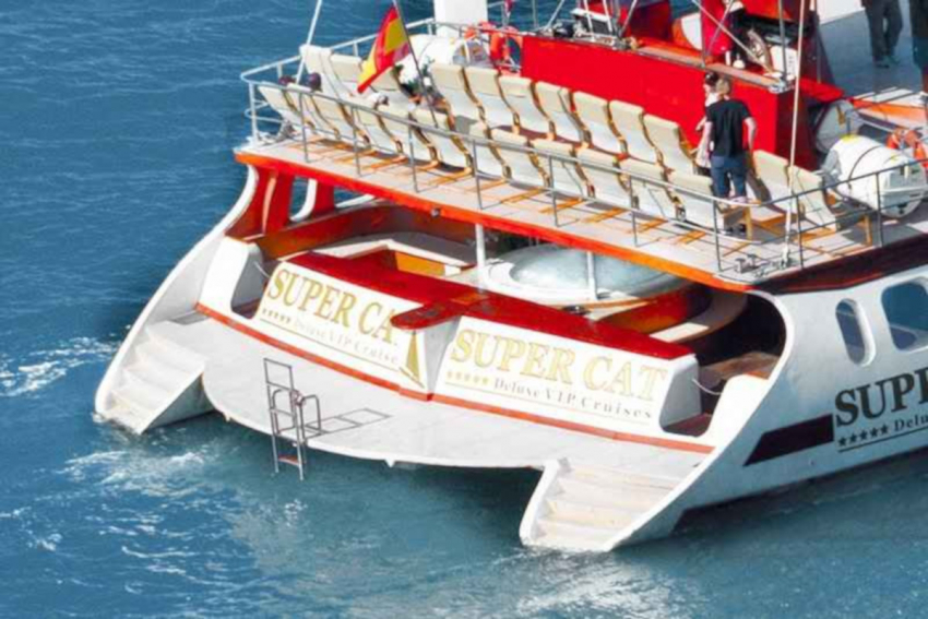Luxury, all inclusive Gran Canaria boat trip on the Supercat