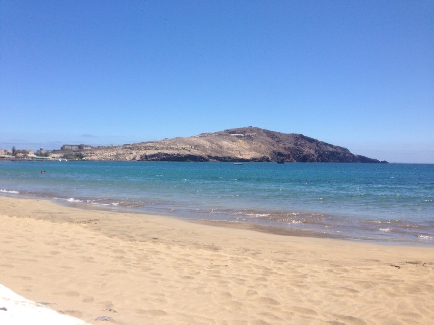 Gando Bay Beach in east Gran Canaria is military only