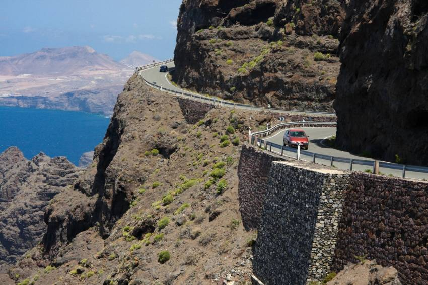 The Gran Canaria west coast road