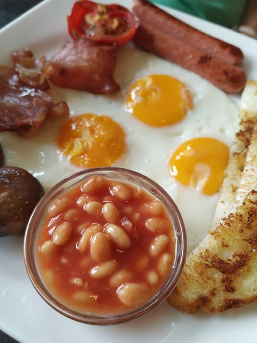 The Couple does a mean cooked breakfast